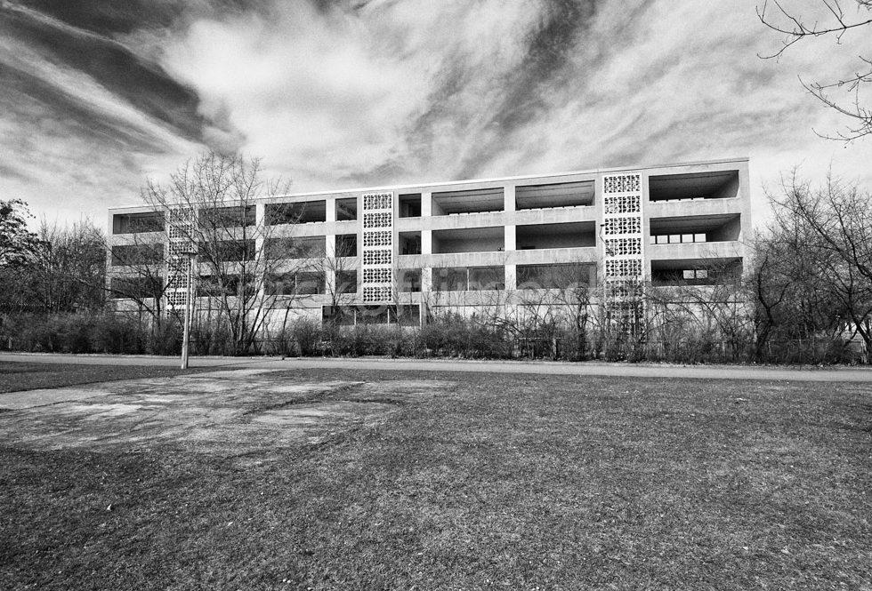 Halle-Neustadt Abriss Schule
